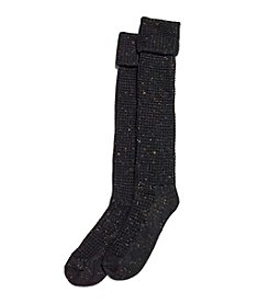 HUE® Cuffed Thermal Tweed Knee Socks