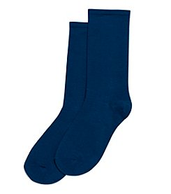 HUE® Ultra Fine Cotton Blend Socks