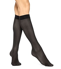 HUE® 4 Pack Opaque Knee High Socks