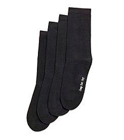 HUE® 4 Pack Flat Knit Socks