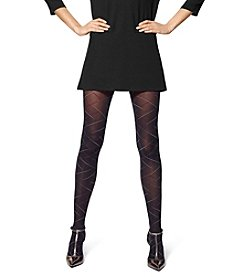 HUE® Criss Cross Bias Tights With Control Top