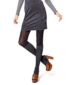 HUE® Chevron/Opaque Boot Sweater Tights