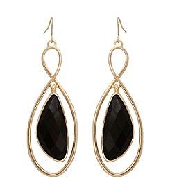 Erica Lyons® Jet Stone Orbital Drop Earrings