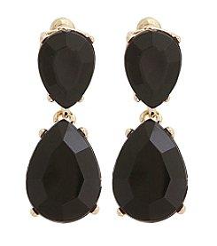 Erica Lyons® Jet Double Drop Earrings
