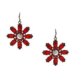 Erica Lyons® Scarlett Letter Flower Drop Earrings