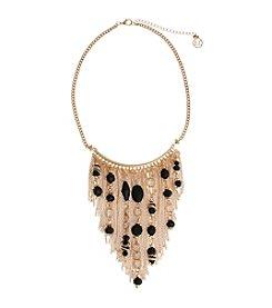 Erica Lyons® Goldtone Chain Bib Necklace