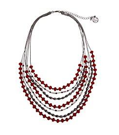 Erica Lyons® Scarlett Letter Multi Row Beaded Necklace