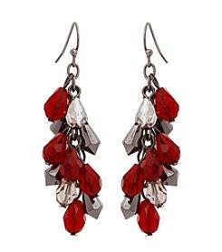 Erica Lyons® Scarlett Letter Beaded Cluster Drop Earrings