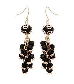 Erica Lyons® Goldtone Beaded Cluster Drop Earrings