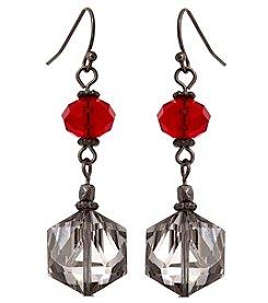 Erica Lyons® Scarlett Letter Double Drop Pierced Earrings