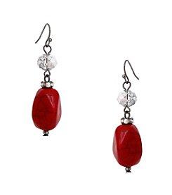 Erica Lyons® Scarlett Letter Double Drop Earrings