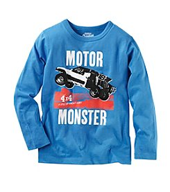 OshKosh B'Gosh® Boys' 4-7 Long Sleeve Motor Monster Tee