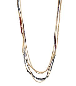 Kenneth Cole® Mixed Bead Multi Row Long Necklace
