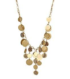 Kenneth Cole® Pave Disc Fringe Frontal Necklace