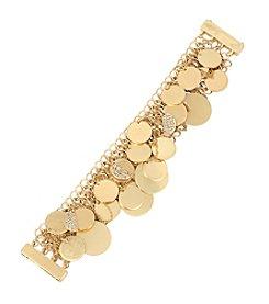 Kenneth Cole® Shaky Pave Disc Fringe Mesh Bracelet
