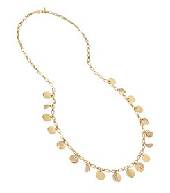 Kenneth Cole® Shaky Pave Disc Long Necklace