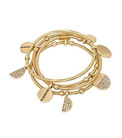 Kenneth Cole® Pave Disc Charm Stretch Bracelet Set