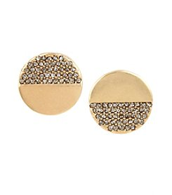 Kenneth Cole® Pave Disc Mismatch Stud Earrings