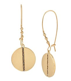 Kenneth Cole® Pave Disc Long Drop Earrings