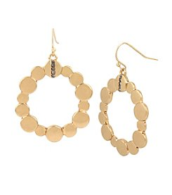 Kenneth Cole® Pave Disc Circle Drop Earrings
