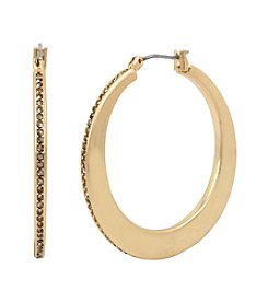 Kenneth Cole Pave Edge Hoop Earrings