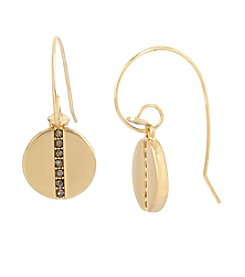 Kenneth Cole® Pave Disc Drop Earrings