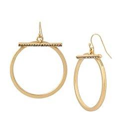 Kenneth Cole® Pave Bar Hoop Earrings