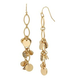 Kenneth Cole® Shaky Pave Disc Linear Earrings