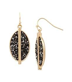 Kenneth Cole® Diamond Sprinkle Stone Oval Drop Earrings