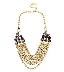 Kenneth Cole® Mixed Stone Multi Row Necklace