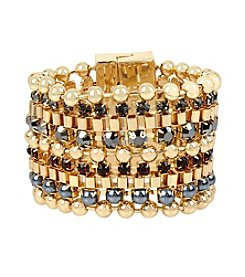 Kenneth Cole® Mixed Faceted Stone Multi Row Bracelet