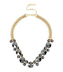 Kenneth Cole® Hematite Faceted Stone Frontal Necklace