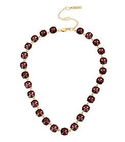 Kenneth Cole® Burgundy Stone Collar Necklace