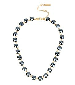 Kenneth Cole® Hematite Stone Collar Necklace