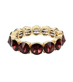 Kenneth Cole® Burgundy Faceted Stone Stretch Bracelet