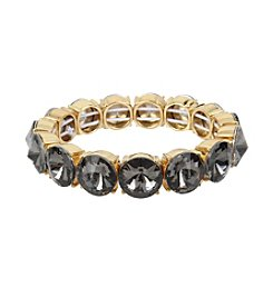 Kenneth Cole® Black Diamond Faceted Stone Stretch Bracelet