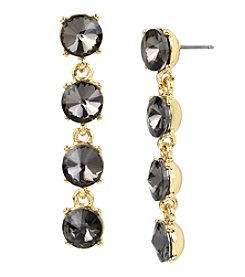 Kenneth Cole® Black Diamond Faceted Stone Linear Earrings