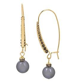 Kenneth Cole® Pearl Long Drop Earrings