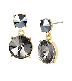 Kenneth Cole® Double Black Diamond Faceted StoneDrop Earrings