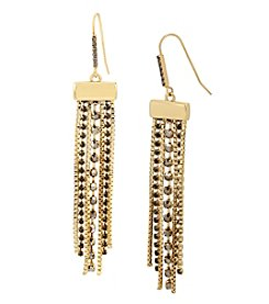 Kenneth Cole® Faceted Stone Multi Row Chandelier Earrings
