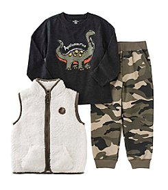 Kids Headquarters® Boys' 2T-4T 3-Piece Apatosaurus Vest Set