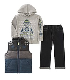 Kids Headquarters® Boys' 2T-7 3-Pc. Rocket Vest Set