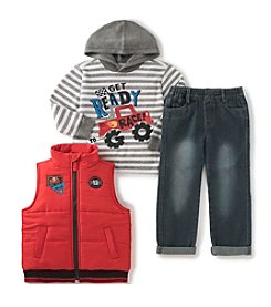 Kids Headquarters® Boys' 2T-7 3-Piece Ready To Race Vest Set