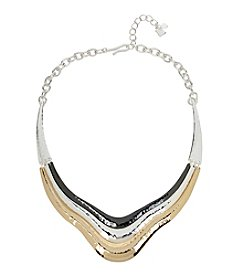 Robert Lee Morris Soho™ Hammered Texture Layered Sculptural Frontal Necklace