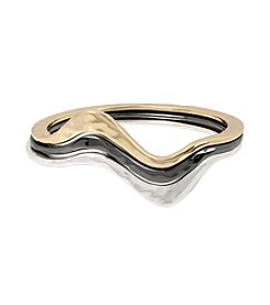 Robert Lee Morris Soho™ Wavy Sculptural Bangle Bracelet Set