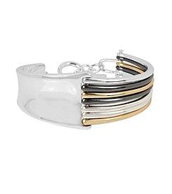 Robert Lee Morris Soho™ Mixed Sculptural Hinged Bangle Bracelet