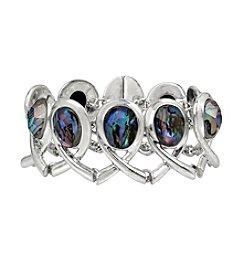 Robert Lee Morris Soho™ Abalone Faceted Stone Geometric Bracelet