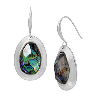 Robert Lee Morris Soho™ Abalone Faceted Stone Sculptural Drop Earrings