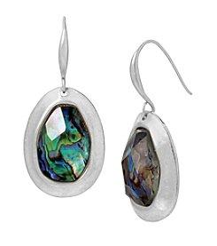 Robert Lee Morris Soho™ Abalone Faceted Stone Sculptural Drop Earrings