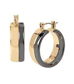 Robert Lee Morris Soho™ Two Tone Small Hoop Earrings